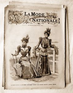 La Mode Nationale du 17 Juillet 1897 toilettes de plage / Sea Side outfits Patrons / patterns