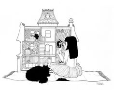 The dollhouse, drawing by Isabella Thermes | Source: Isabella Thermes