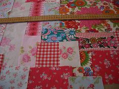 FABRIC BUNDLE NEW/VINTAGE/shabby chic CRAFT patchwork Shabby Chic Crafts, Vintage Shabby Chic, Orange Color, Colour, Patchwork Ideas, Vintage Fabrics, Squares, Quilts, Blanket