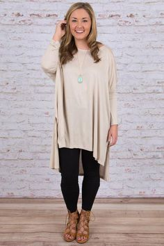 Tag Along Tunic, Beige