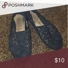 Trade Black crochet flats, worn a few times. Size 10 wide Shoes Flats & Loafers