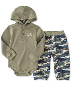 Calvin Klein Baby Boys' Thermal Bodysuit and Pants Set - Kids & Baby - Macy's