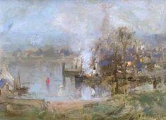 The Athenaeum - Kirkcudbright Harbour (Thomas Bromley Blacklock - )