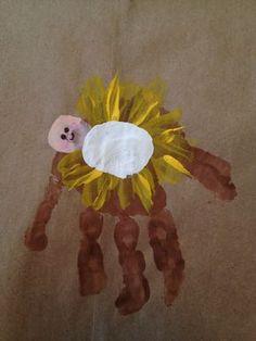 Wonderful & Random Things — Handprint Baby Jesus in Manger Snowy days are...