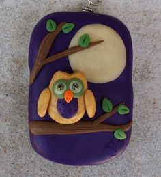 Owl Tin Locket/Keychain by caldwali on Etsy, $15.00