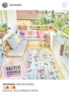 Balkon – home accessories Apartment Balcony Decorating, Apartment Balconies, Apartment Living, Muebles Shabby Chic, Small Space Interior Design, Balcony Design, Luxury Apartments, Porches, Interior Design Living Room