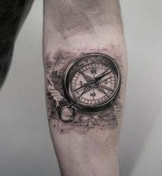 Compass Tattoo Realistic