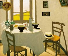 ◇ Artful Interiors ◇ paintings of beautiful rooms - MARIUS BORGEAUD  The White Room (1924)