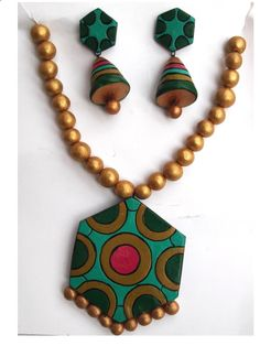 #Terracotta #Neckless #Jewellery Set  #craftshopsindia