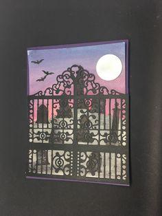 Detailed Gate framelit, aqua painters, Graveyard Gate stampset