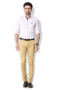 Give yourself an ultra-modern casual look with these light khakhi coloured chino pants from KOZZAK. Mens Chino Pants, Khaki Pants, Casual Looks, Amazon, Modern, Color, Style, Fashion, Swag