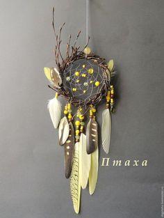 """Купить Ловец снов """"Желтая птица"""" - лимонный, ловец снов, ловец сновидений, ловец"""