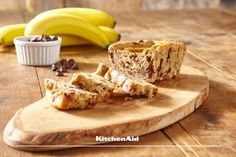 Next time you bake, why not try some gluten free Banana Bread with choc chips, made with your KitchenAid Stand Mixer. It's simply delicious. Gluten Free Banana Bread, Easy Banana Bread, Chocolate Chip Banana Bread, Gluten Free Chocolate, Kitchenaid, Kitchen Aid Recipes, Yummy Food, Tasty, Gluten Free Snacks