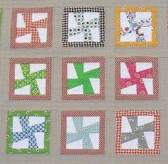 Mini Whirligig Block | FaveQuilts.com