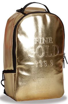 The Gold Brick Backpack in Gold by Sprayground Dope!