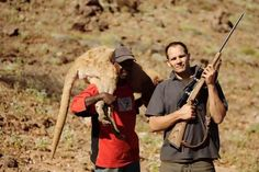Kangaroo hunters in Australia looking proud of their first murder of the day.