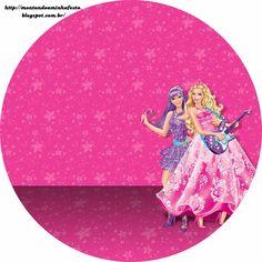Barbie Moda y Magia y Barbie Rock Star: Etiquetas Gratis para Candy Bar.