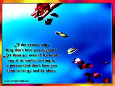 Letting go quotes -If the person says