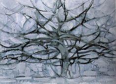 Pietr Mondriaan, De grijze boom, 1911, Gemeentemuseum, Den Haag