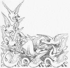 The Wild Swans -- Helen Stratton -- Andersen -- Fairytale Illustration