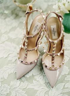Tuesday: Valentino - the cinderella project: because every girl deserves a happily ever after. #Valentino #studs #heals