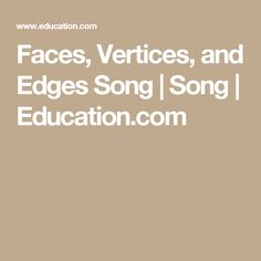 Faces, Vertices, and