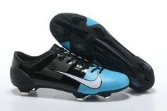 Nike GS Mercurial Glide III FG Cleats - Blue Black White New Soccer Shoes 2013