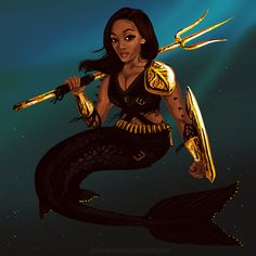 Pandora Jewelry OFF! wocinsolidarity: flutiebear: chirravutever: Nicole Beharie as a post-apocalyptic mermaid for reasons. adding to my celebrities doing awesome stuff series. x) I am having a post-apocalyptic mermaid situation right now. Black Girl Art, Black Women Art, Black Girl Magic, Black Art, Art Girl, Black Mermaid, Mermaid Art, The Little Mermaid, Mermaid Paintings