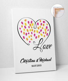 Hochzeitsgästebuch - Wedding Tree 40x60 Leinwand Hochzeit - ein Designerstück…