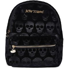57d197bd4d17 Betsey Johnson Skull Backpack ( 74) ❤ liked on Polyvore featuring bags