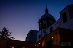 Iglesia de Mineal de Pozos por la noche