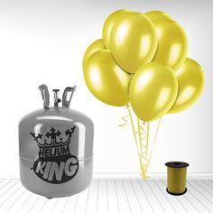 Flotte gule balloner til Påskefesten! Fås i mange farver i enten 30 eller 50 stk. Bemærk at alle balloner i disse pakker er 23 cm i dia. dvs. mindre end en alm. ballon. Pakke med 1 Stor Helium Gas Cylinder og 50 Gule Latex Balloner og Bånd - fundet hos MinTemaFest.dk