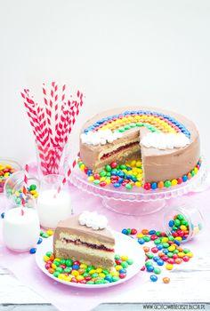 torty - Gotuję, bo lubię - Diy Birthday, Birthday Parties, Birthday Cake, Rainbow Parties, Party Treats, Diy Party Decorations, Marshmallows, Diy For Kids, Food Photography