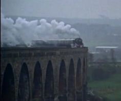 Flying Scotsman on Berwick Upon Tweed Viaduct
