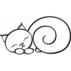 Silhouette Design Store - View Design #64503: sleeping cat