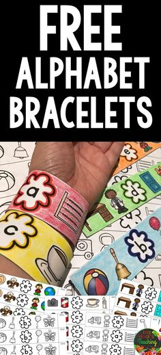 make math bracelets instead, with sums to or 20 Preschool Letters, Learning Letters, Kindergarten Literacy, Preschool Classroom, Preschool Learning, Early Learning, Preschool Activities, Early Literacy, Alphabet Activities Kindergarten