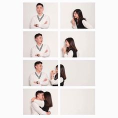 This trend to take picture for couple is adorable