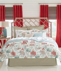 Lively, vivid tones mix and mingle to create a gorgeous, East Indian-influenced design. Graceful, airy and exotic. (Country Curtains Elephant Walk Comforter Set)