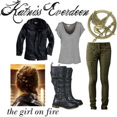 """Halloween Costume Katniss"" by immabird on Polyvore"