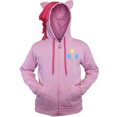 My Little Pony Pinkie Pie Cutie Licensed Adult Zip Up Hoodie S-XL