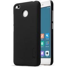 NILLKIN for Xiaomi Redmi 4X Phone Cases Super Frosted Shield PC Hard Bag Case for Xiaomi Redmi 4X Shell- Black