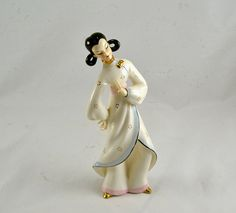 Japanese Porcelain Figurine  Dancing Geisha  by ChicMouseVintage
