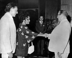Elizabeth Taylor and Richard Burton with Josip Broz Tito, the leader of Yugoslavia