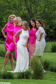 Katie let loose with her bridesmaids.