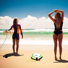 Time to hit the beach! #BombshellSeries @nikkivandijk @alanarblanchard Photo: @trentmitchellphoto