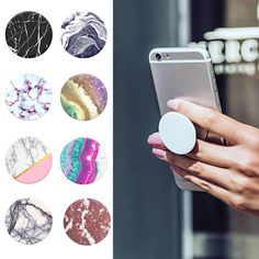 Marble Series Phone Holder Expanding Stand and Grip Pop Socket Mount for Smartphones and Tablets For Xiaomi Huawei Cute Cases, Cute Phone Cases, Iphone 6 Cases, Iphone 7 Plus, Portable Iphone, Cute Popsockets, Popsockets Phones, Diy Pop Socket, Phone Accesories