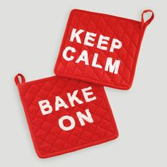 Keep Calm & Bake On Potholder, Set of 2 | World Market