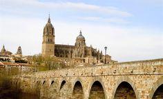 Vue depuis le Pont Romain de Salamanque (Espagne)
