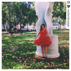 Feeling like a princess wearing #parlorstudio