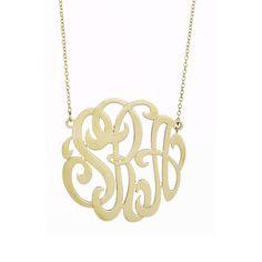 monogram necklace #gold #wishlist
